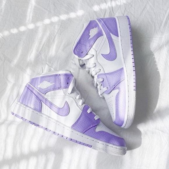 Jordan Shoes | Custom Lavender Air
